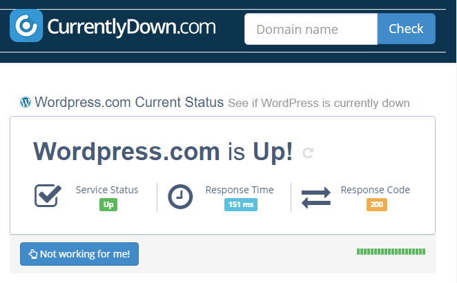 currentlydown DNS Server Not Responding