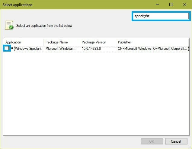 local group policy select apps
