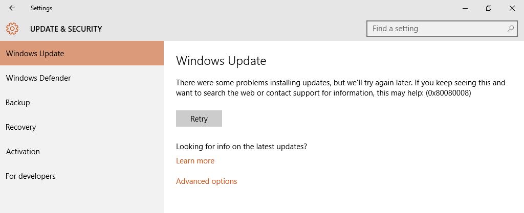 windows 10 0x80080008